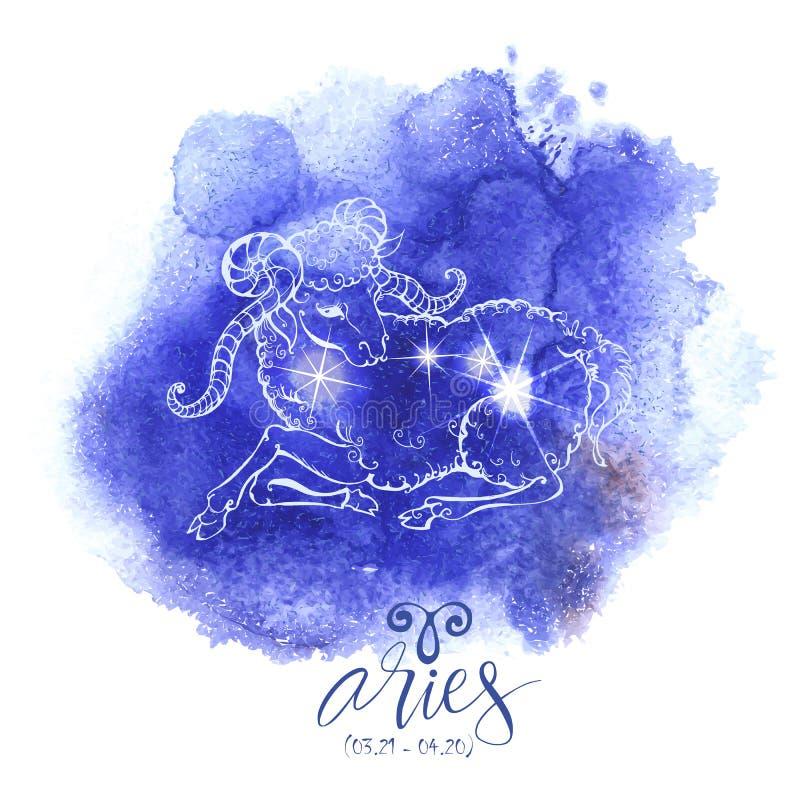 Áries do sinal da astrologia ilustração royalty free