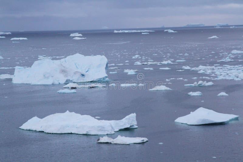 Ártico greenland do gelo de tração imagem de stock