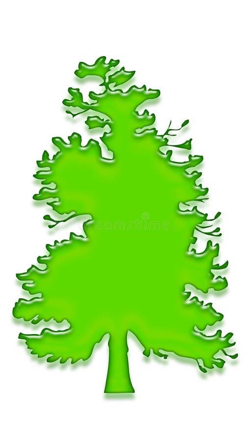 Árvore 2 do gel ilustração stock