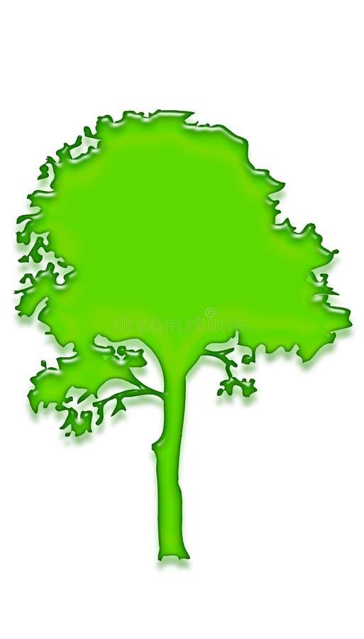 Árvore 3 do gel ilustração do vetor