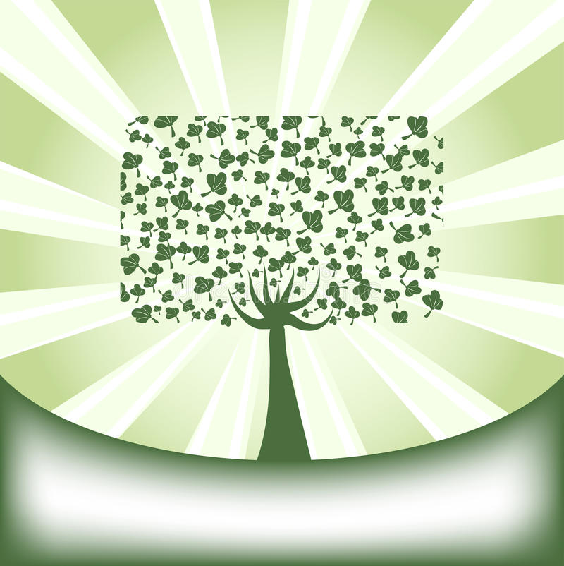 Árvore abstrata ilustração do vetor