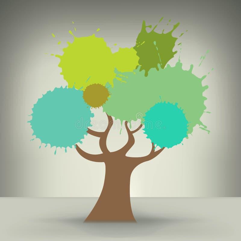Árvore abstrata colorida criativa ilustração royalty free