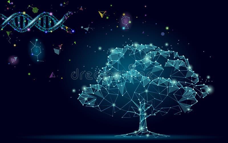 Árvore abstrata da evolução do ADN Conceito do negócio da tecnologia da inovação do gene da natureza da ecologia Planta da engenh ilustração do vetor