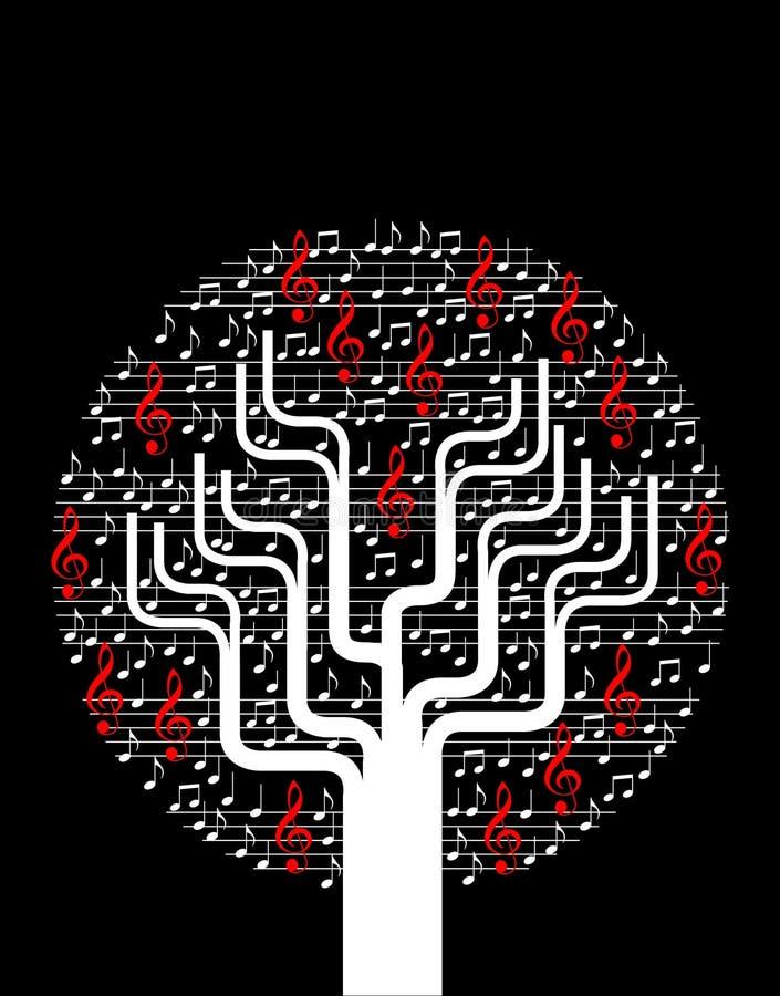 Árvore abstrata da música ilustração do vetor