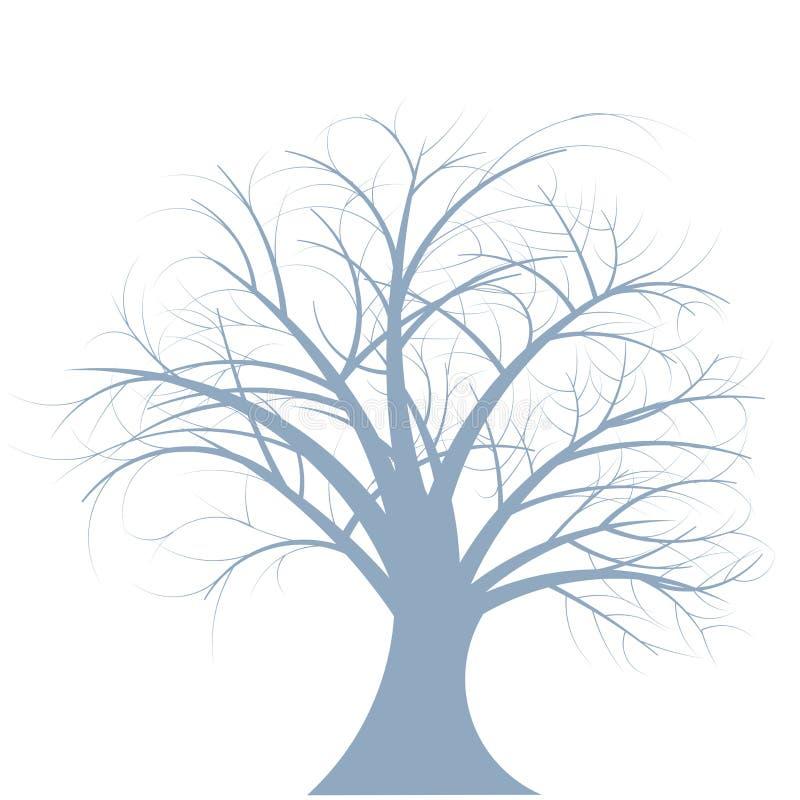 Árvore abstrata de do inverno do vetor ilustração royalty free