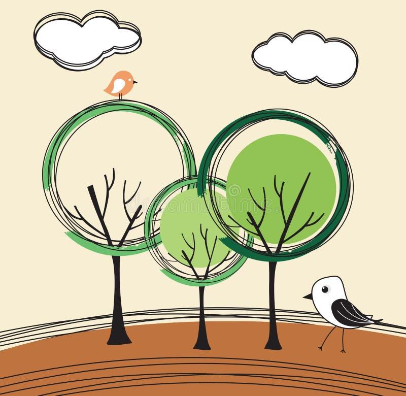 Árvore abstrata do vetor ilustração stock