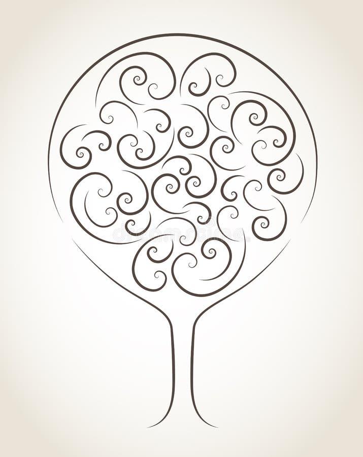 Árvore abstrata do vetor imagem de stock royalty free