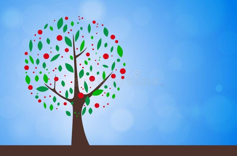 Árvore abstrata - temporada de verão ilustração do vetor