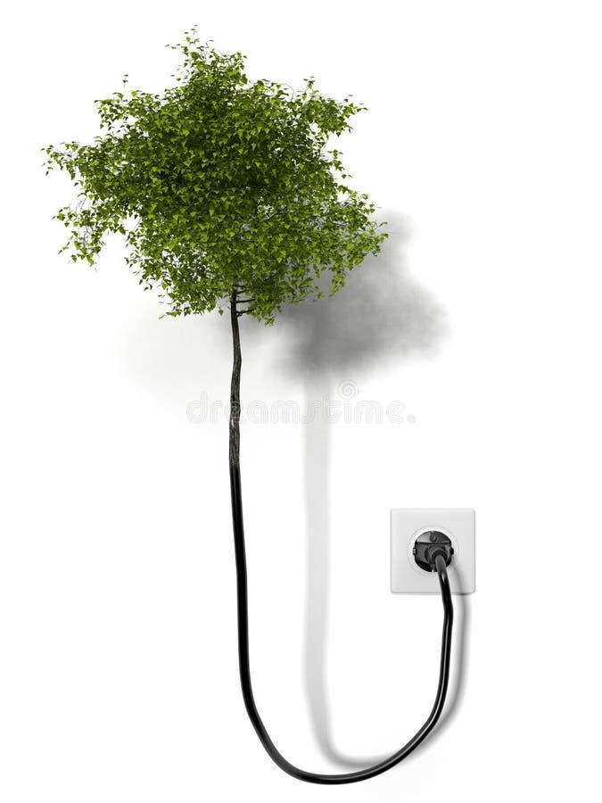 Árvore anexada à rede ilustração stock
