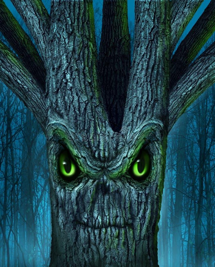 Árvore assombrada ilustração royalty free