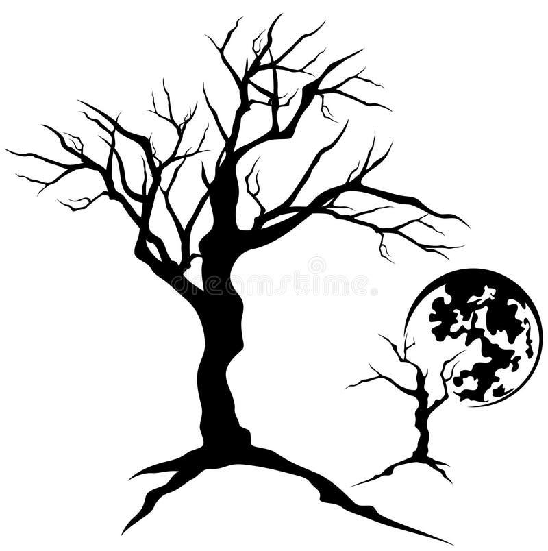 Árvore assustador ilustração do vetor