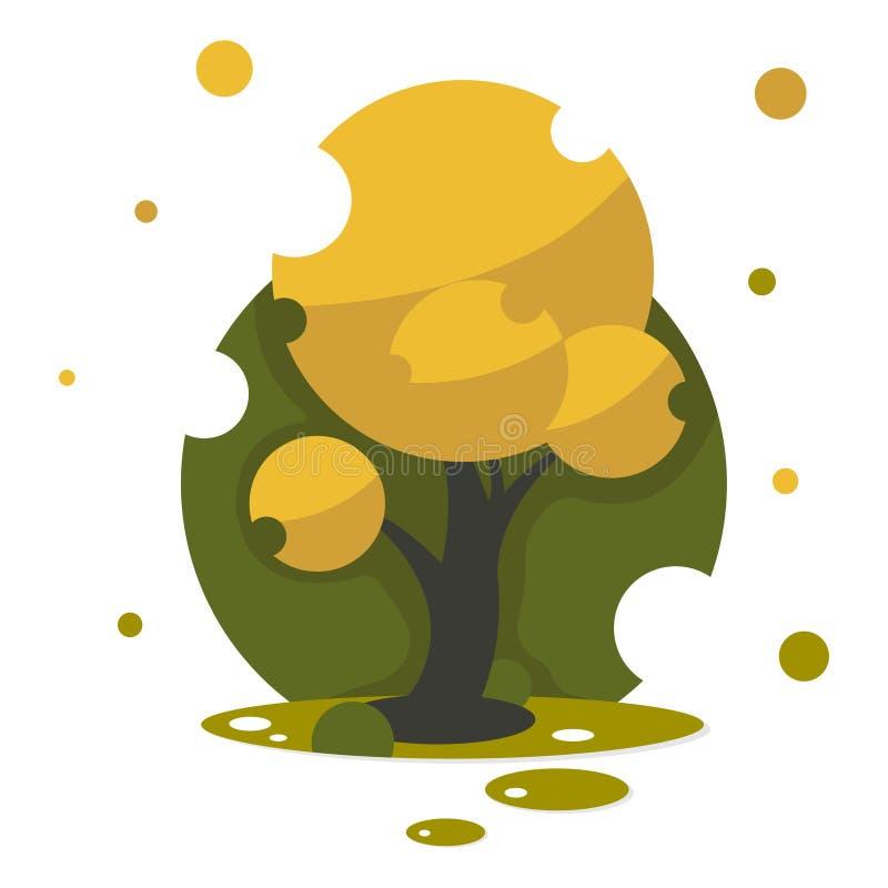 Árvore bonita do outono para sua arte da ilustração do projeto ilustração do vetor