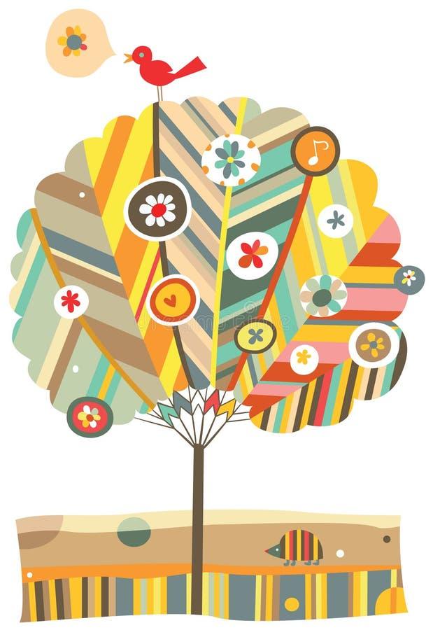 Árvore colorida ilustração royalty free