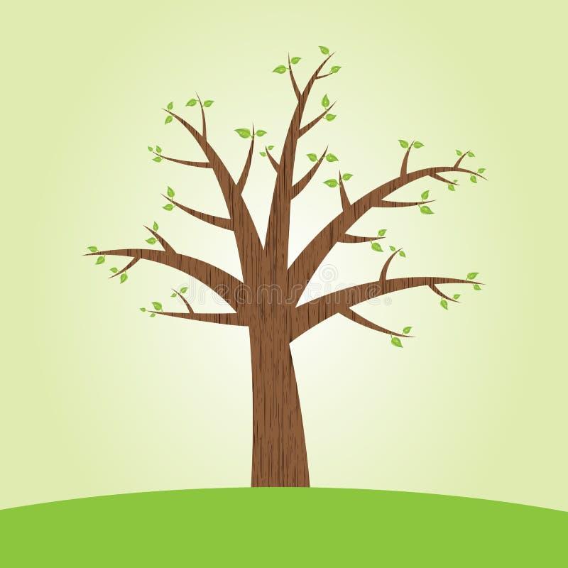 Árvore com folhas ilustração do vetor