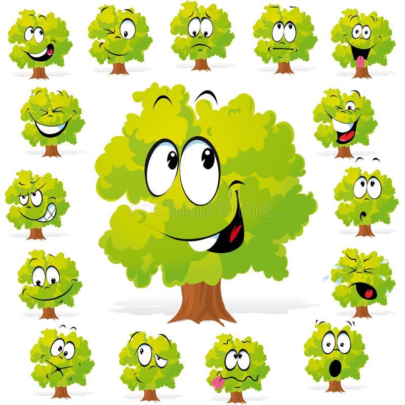 Árvore com muitas expressões ilustração royalty free