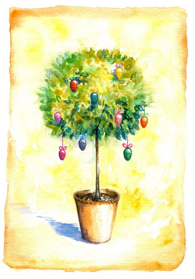 Árvore com ovos ilustração stock