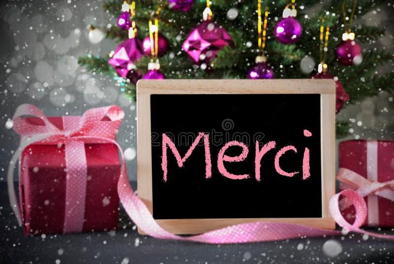 Download A árvore Com Presentes, Flocos De Neve, Bokeh, Meios De Merci Agradece-lhe Imagem de Stock - Imagem de merci, estação: 80101309