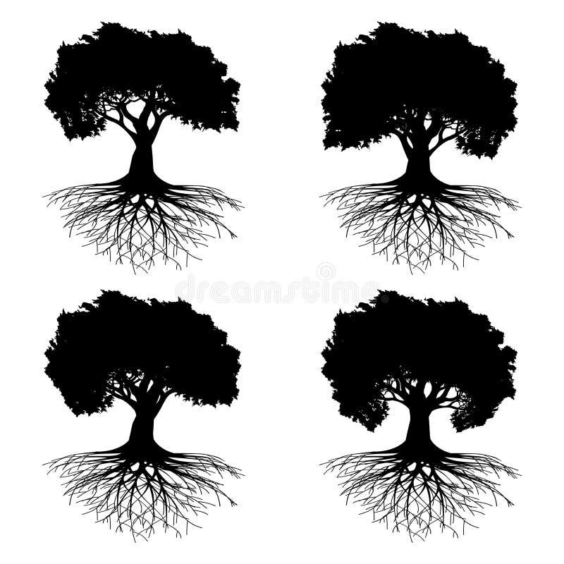 Árvore com raizes ilustração stock