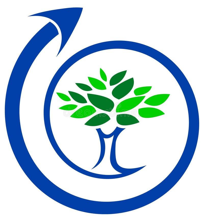 Árvore com redemoinho ilustração royalty free