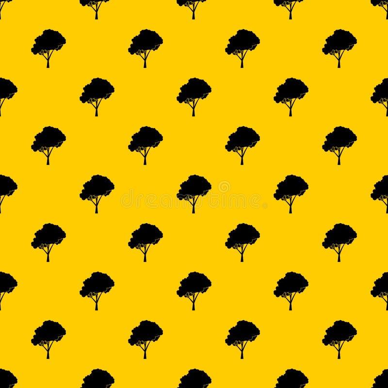 Árvore com um vetor arredondado do teste padrão da coroa ilustração do vetor