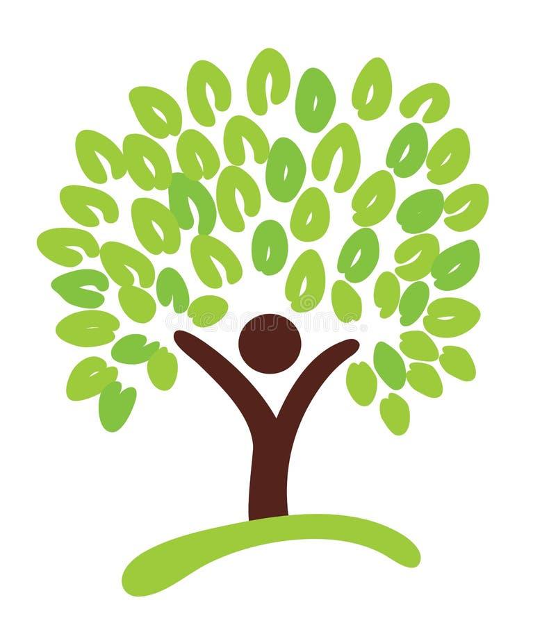 Árvore como o símbolo ilustração royalty free