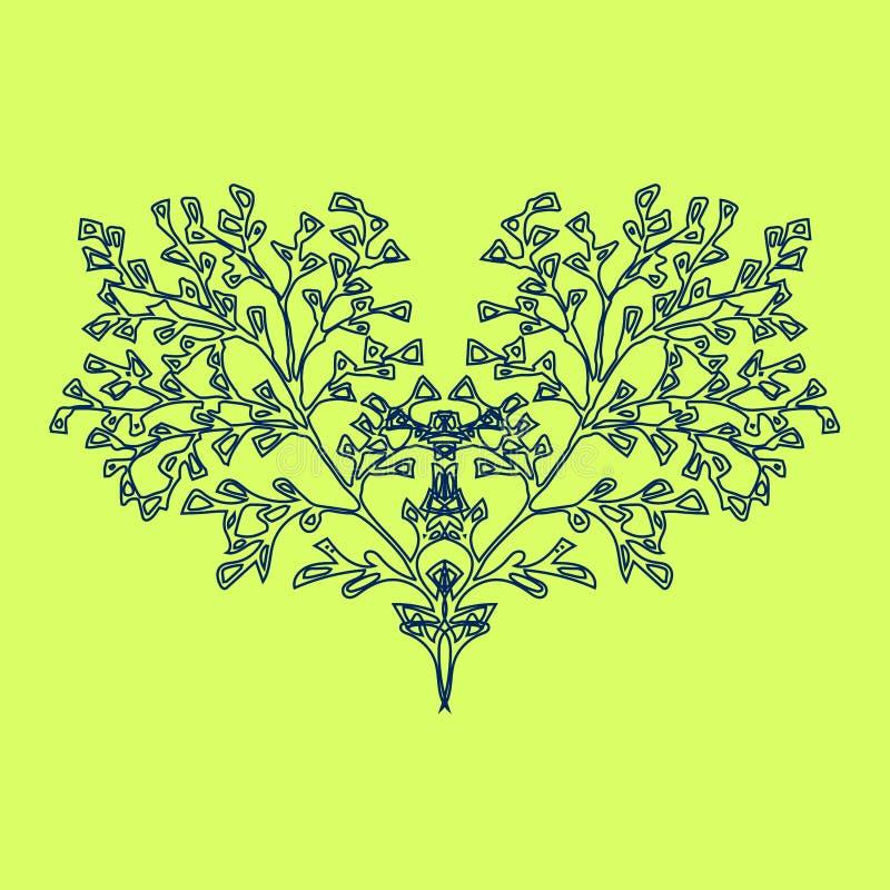 Árvore, coração de florescência ilustração royalty free