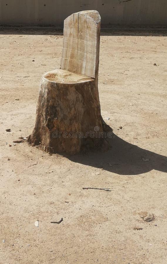 A árvore cortou na forma de uma cadeira fotos de stock