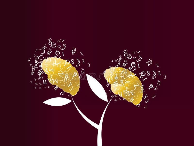 Árvore creativa das mentes ilustração royalty free