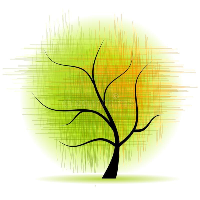 Árvore da arte bonita ilustração royalty free