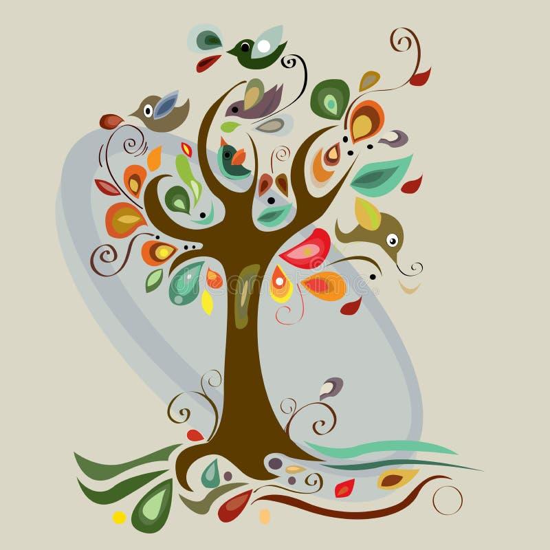 Árvore da arte bonita ilustração stock