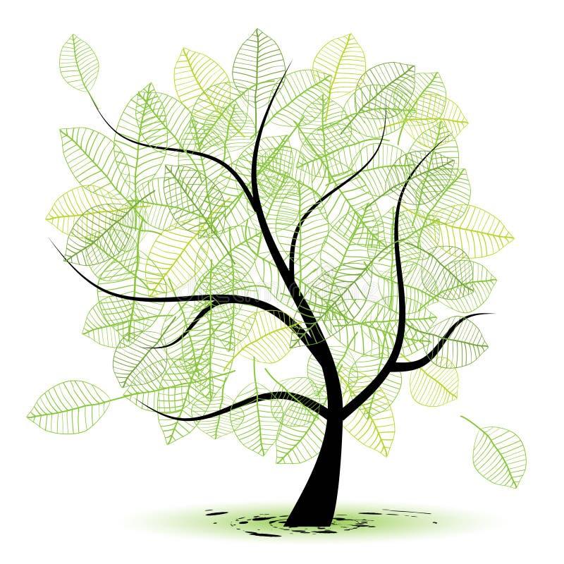Árvore da arte bonita para seu projeto ilustração stock