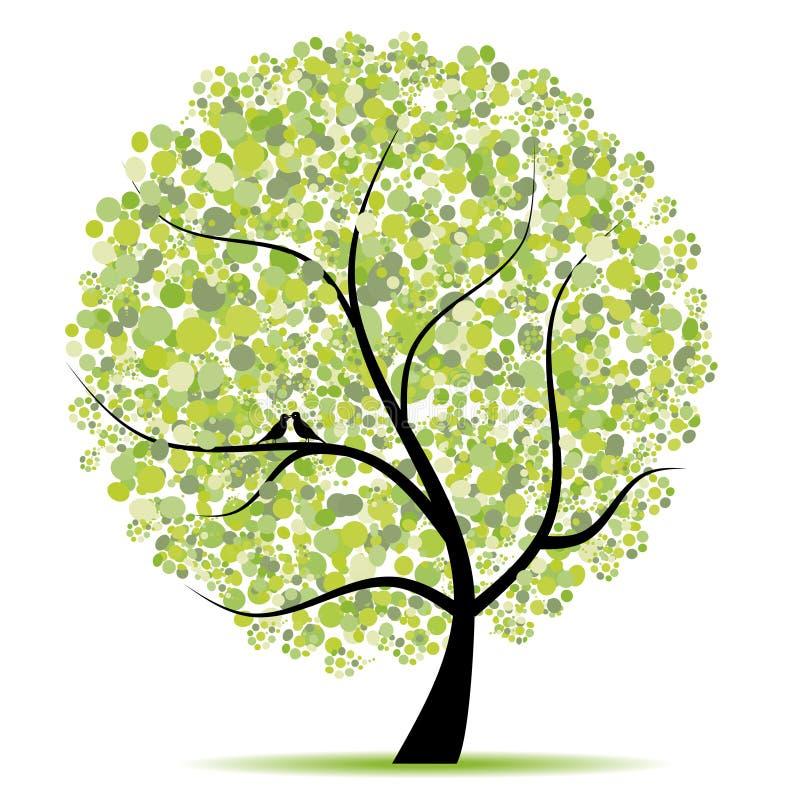 Árvore da arte bonita para seu projeto ilustração royalty free