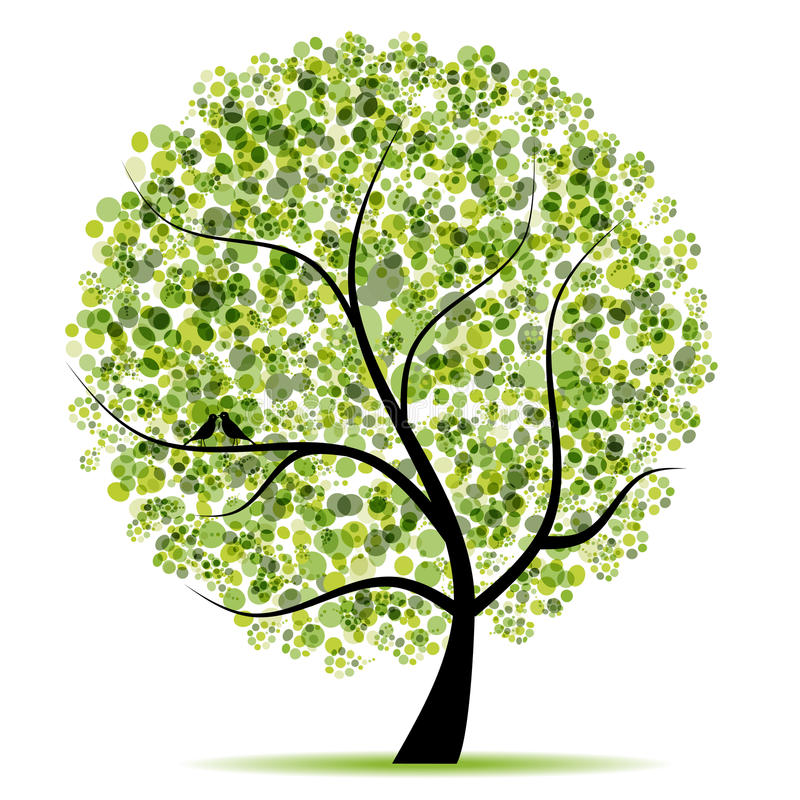 Árvore da arte bonita para seu projeto ilustração do vetor