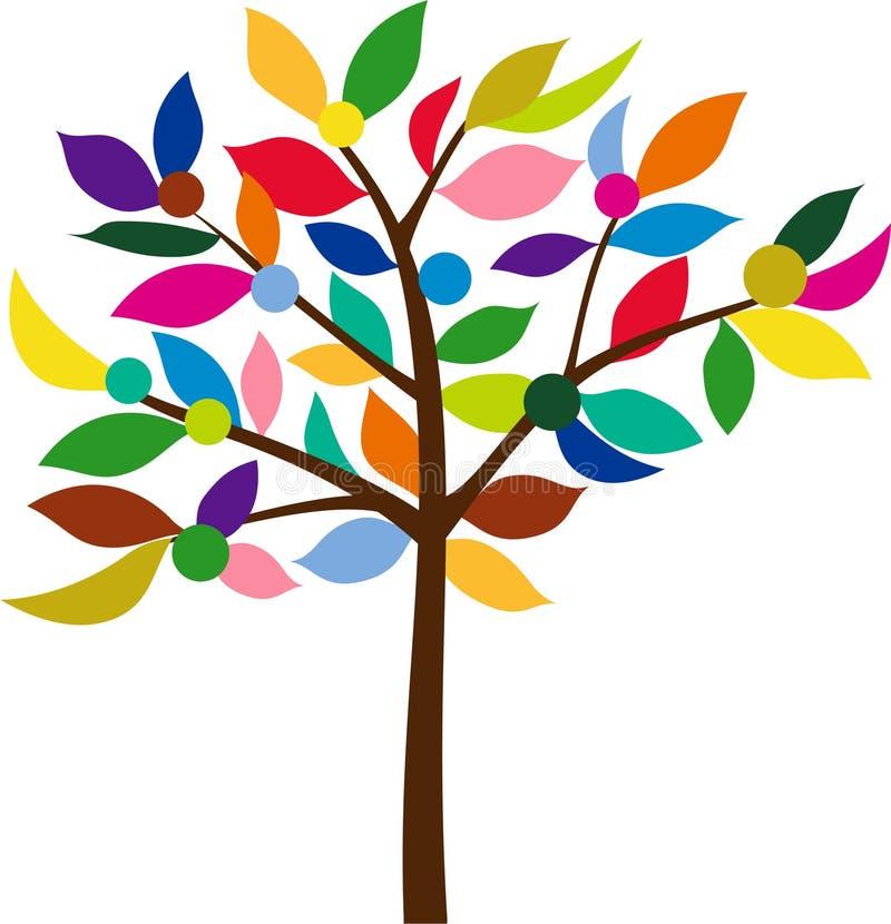 Árvore da cor ilustração do vetor