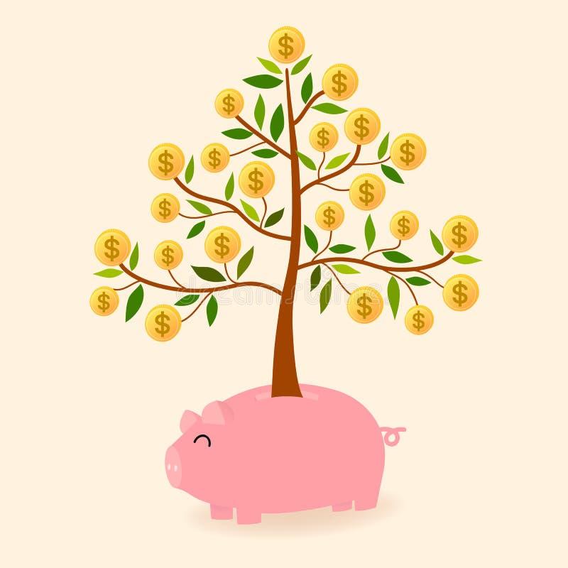 Árvore da economia ilustração do vetor