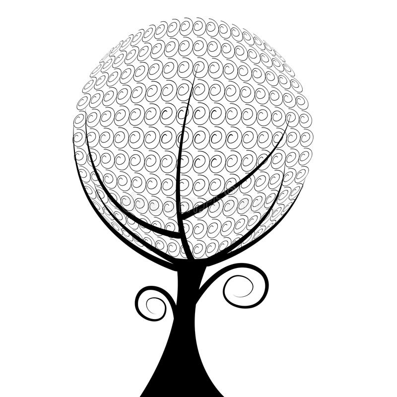 Árvore da esfera ilustração stock