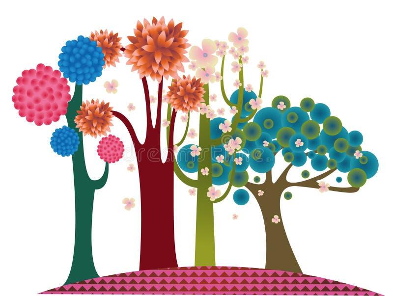 Árvore da forma ilustração stock