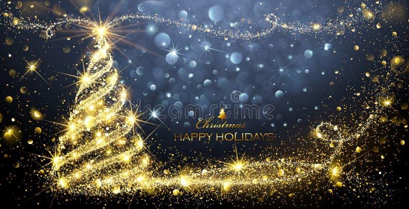 Árvore da mágica do Natal ilustração stock