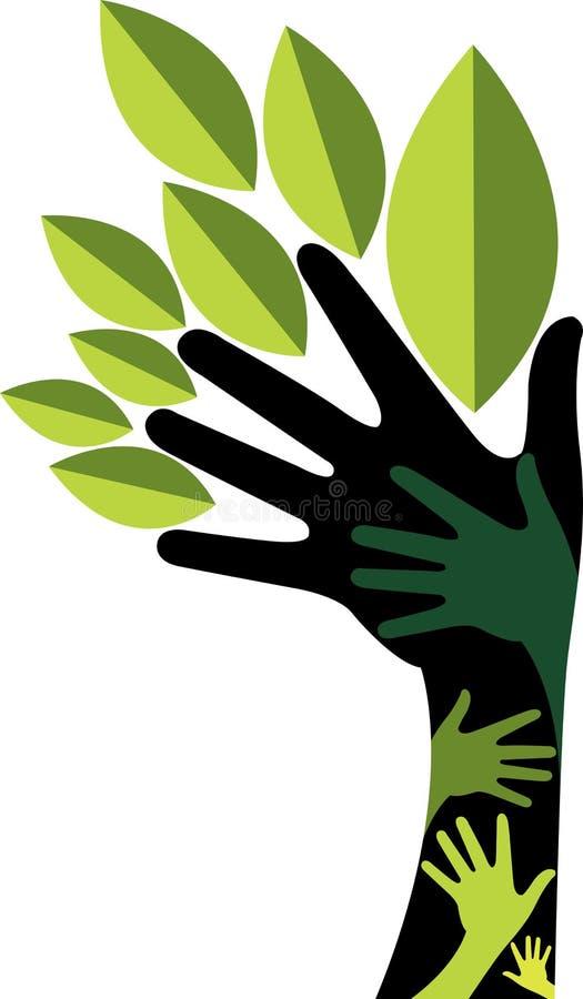 Árvore da mão ilustração stock