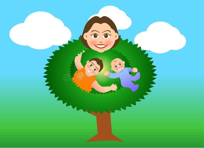 Árvore da matriz ilustração royalty free