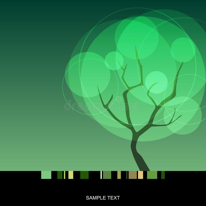 Árvore da mola ilustração royalty free
