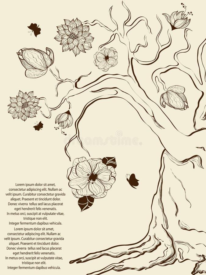 Árvore da mola ilustração stock