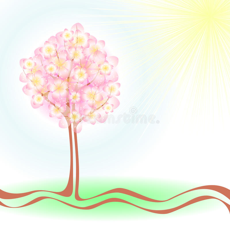 Download Árvore da mola ilustração do vetor. Ilustração de azul - 29843030