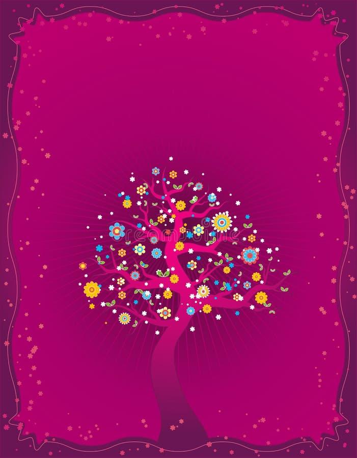 Árvore da mola, vetor ilustração stock