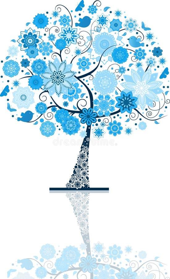 Árvore da neve ilustração do vetor