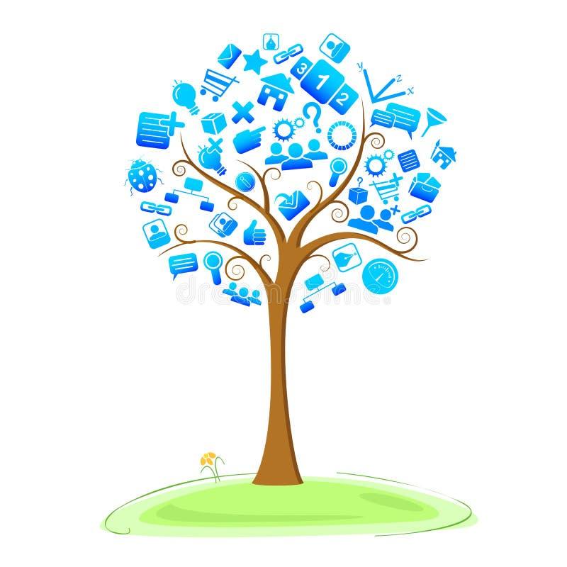 Árvore da tecnologia ilustração do vetor