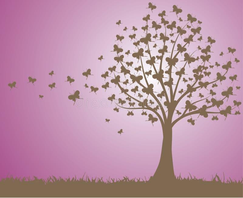 Árvore das borboletas fotografia de stock