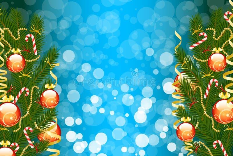 Árvore de abeto do Natal ilustração royalty free