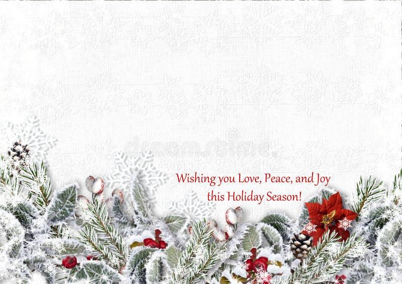 Árvore de abeto do Natal com azevinho em uma placa de madeira ano novo feliz 2007 fotografia de stock