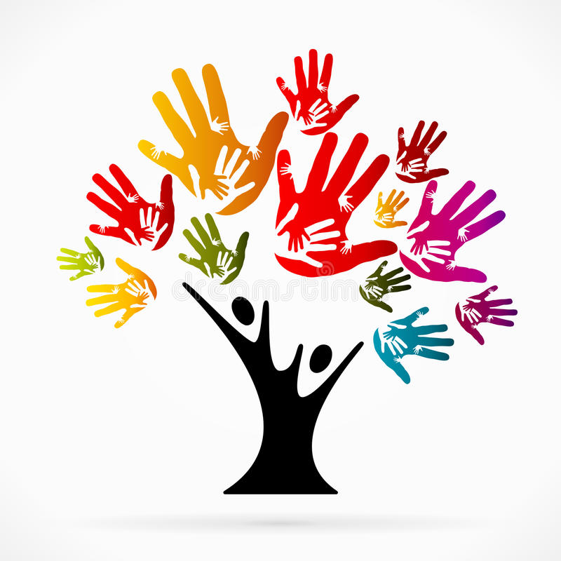 Árvore de ajuda ilustração stock